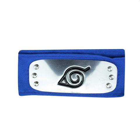Image of Anime Naruto Headband Leaf Village Logo Konoha Uchiha Itachi Kakashi Akatsuki Cosplay Costume Accessories