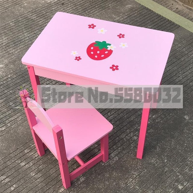 Children's simulation wooden dressing table princess makeup table play house girl storage jewelry box toy birthday gift