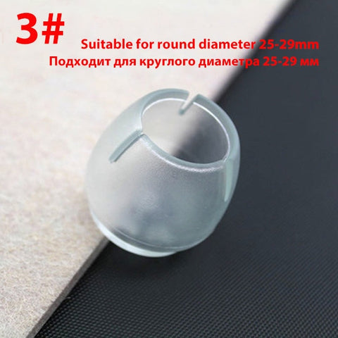 Image of 16Pcs/Lot Table Chair Leg Mat Silicone Non-slip Table Chair Leg Caps Foot Protection Bottom Cover Pads Wood Floor Protectors