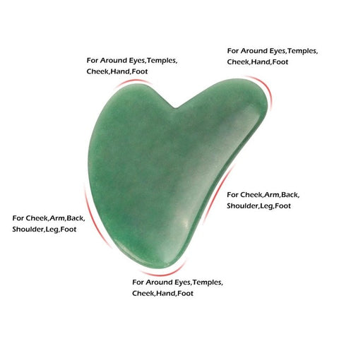 Natural Jade Guasha Stone Board Massage Rose Quartz Guasha Plate Jade Face Massager Scrapers Tools For Face Neck Back Body