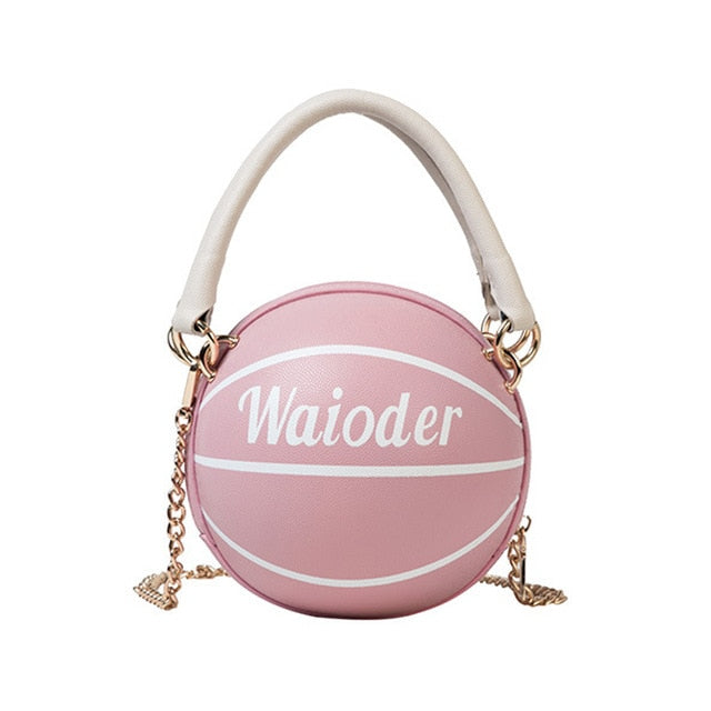 Basketball Shape Purses And Handbags Small Tote Bags For Women 2020 Designer PU Zip Shoulder Crossbody Bag Girls Bags Organizer