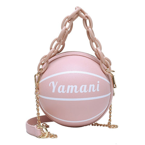 Image of Basketball Shape Purses And Handbags Small Tote Bags For Women 2020 Designer PU Zip Shoulder Crossbody Bag Girls Bags Organizer
