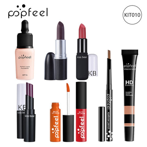Image of 15 20 24PCS/Set Make Up Sets Cosmetics Kit Eyeshadow Lipstick Eyebrow Pencil Lip Gloss Makeup Brush Powder Puff with Makeup Bag