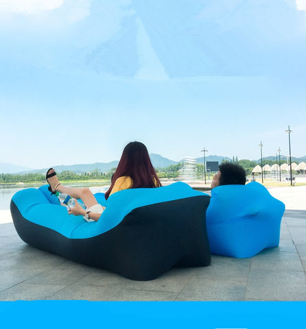 Trend Outdoor Products Fast Infaltable Air Sofa Bed Good Quality Sleeping Bag Inflatable Air Bag Lazy bag Beach Sofa 240*70cm