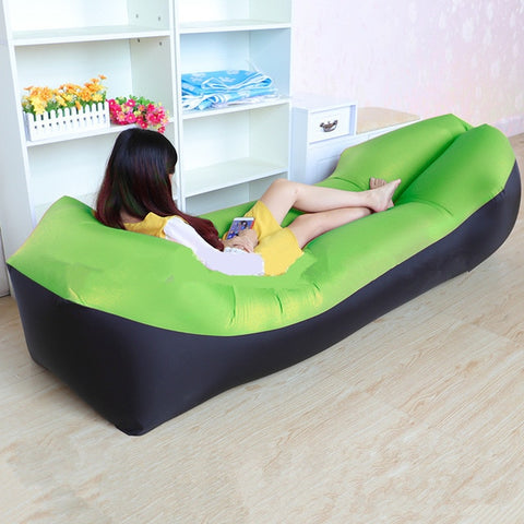 Image of Trend Outdoor Products Fast Infaltable Air Sofa Bed Good Quality Sleeping Bag Inflatable Air Bag Lazy bag Beach Sofa 240*70cm
