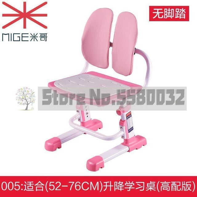 Children's chair lift student chair home study chair adjustable writing sitting posture correction seat learning stool