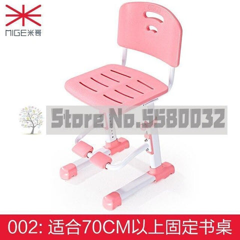 Image of Children's chair lift student chair home study chair adjustable writing sitting posture correction seat learning stool