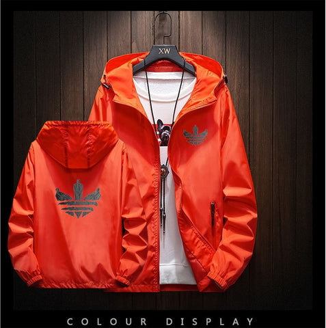 Image of 2020 New Brand Men's Jacket Outdoor Travel Hooded Slim Jacket Harajuku Andes Hooded Design Printed Large Size M-8XL Jacket