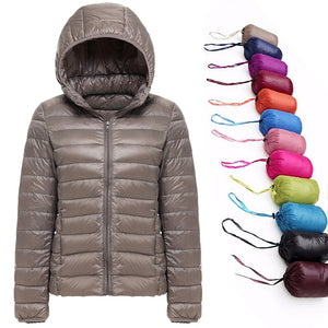 2019 New Brand 90% White Duck Down Jacket Women Autumn Winter Warm Coat Lady Ultralight Duck Down Jacket Female Windproof Parka