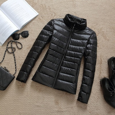 Image of 2019 New Brand 90% White Duck Down Jacket Women Autumn Winter Warm Coat Lady Ultralight Duck Down Jacket Female Windproof Parka