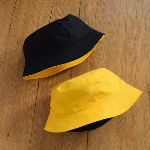 Image of Summer Daisies Bucket Hat men women Fashion cotton reversible Bob Femme Caps Panama sad boys fold Sun fishing fisherman hat
