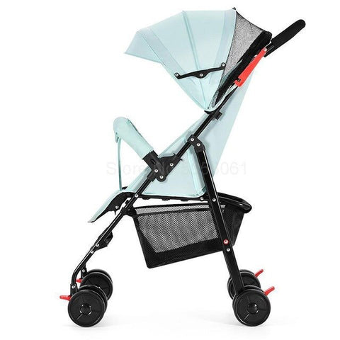 Image of Pram can sit down, lie, baby, big, foldable baby, simple shock absorber, trolley, pocket umbrella