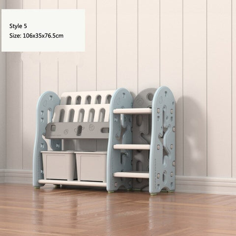Image of Children's Book Toy Storage Rack Solid wood Kindergarten Toy Storage Cabinet Baby Bookshelf Rack Multi-layer Household Shelf