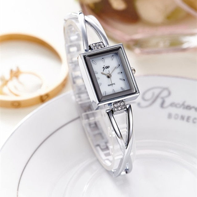 New Fashion Rhinestone Watches Women Luxury Brand Stainless Steel Bracelet watches Ladies Quartz Dress Watches reloj mujer Clock