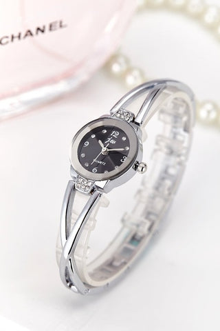 Image of New Fashion Rhinestone Watches Women Luxury Brand Stainless Steel Bracelet watches Ladies Quartz Dress Watches reloj mujer Clock
