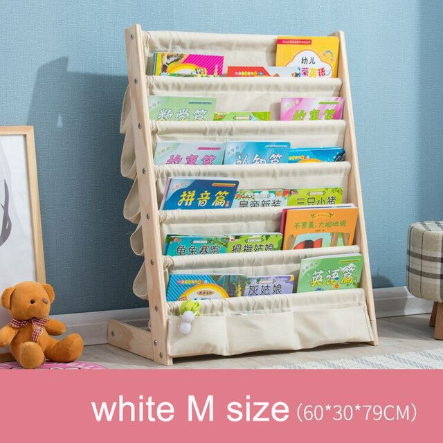 solid wood bookcase easy install book shelf  kid's picture book rack living room  home office furniture toy shelf