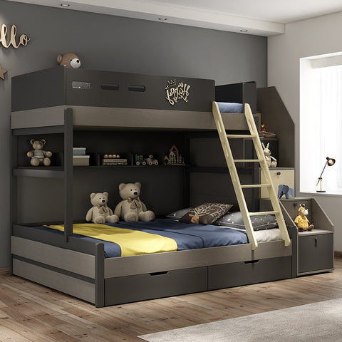 Nordic child bed combination modern minimalist children go to bed multi-functional high and low bunk bed