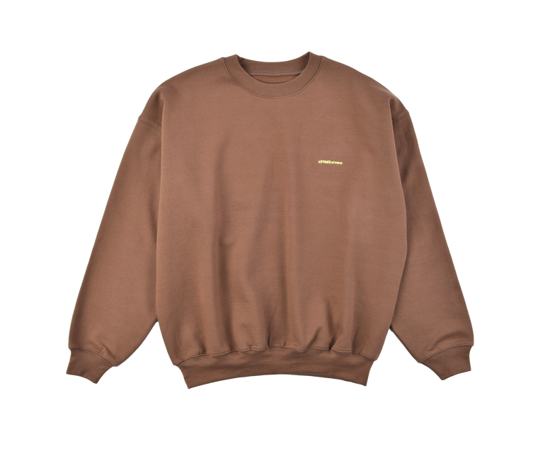 A (FRND) of Mine Sweatshirt Brown