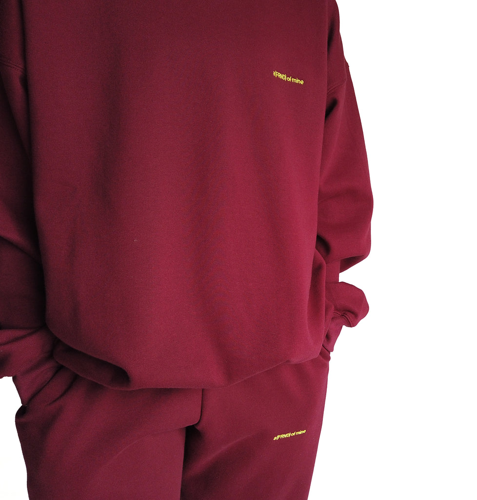 A (FRND) of Mine Sweatshirt Maroon