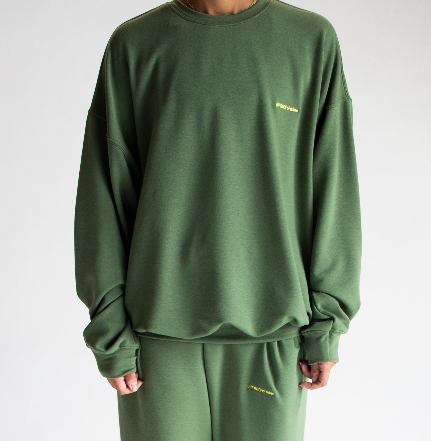 A (FRND) of Mine Lightweight Sweatshirt Olive
