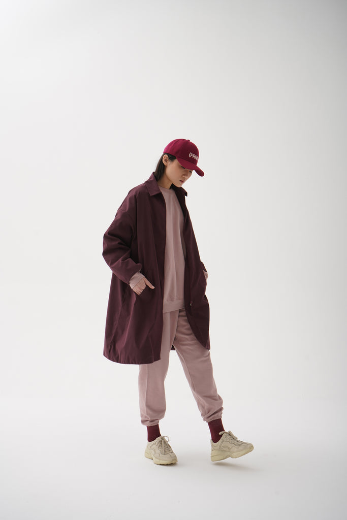 Collar Jacket Maroon
