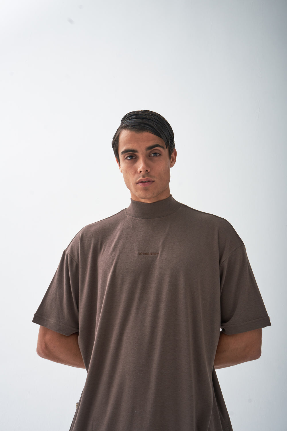 A (FRND) Of Mine High Neck Tee Brown