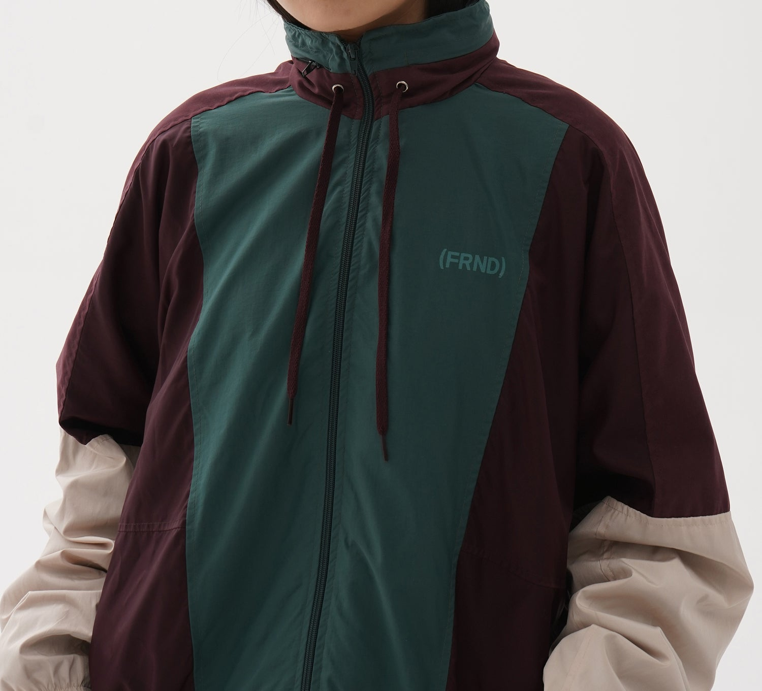 Tracksuit Jacket Maroon + Green
