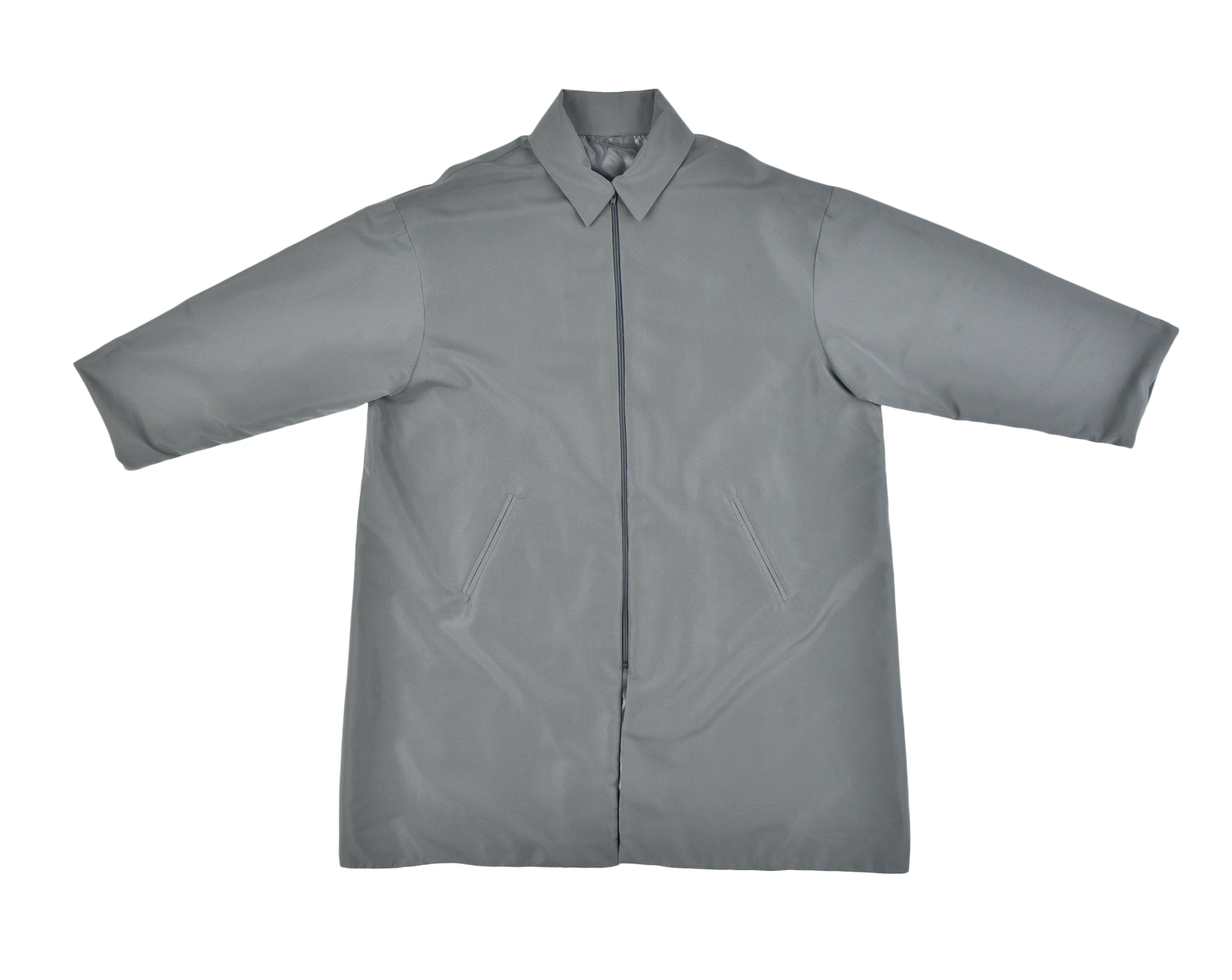 Collar Jacket Grey Green