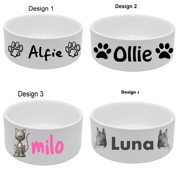 Personalised Ceramic Dog Cat Bowls Custom Pet Puppy Bowl