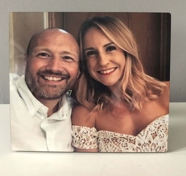 Personalised Chromaluxe Photo Plaque Panel Frame
