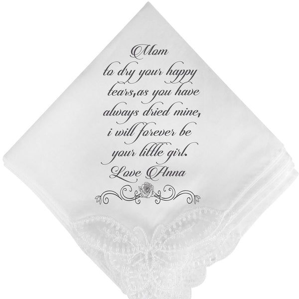 personalised wedding Handkerchief