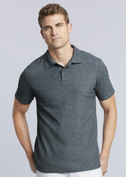 Mens Gildan DryBlend® Adult Double Piqué Polo
