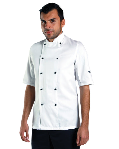 DD20S Removable Stud Lightweight Short Sleeve Chef's Jacket