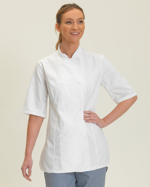DD33S Ladies' Short Sleeve Chef's Jacket