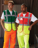 Hi-Vis Executive Waistcoat Full length front zipper fastening