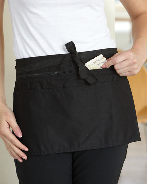 DW15 Dennys Full Zip Multi-Pocket Apron