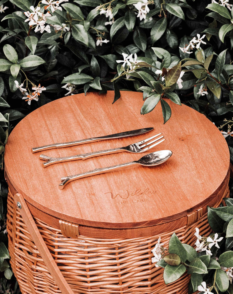 Brass Twig Motif Cutlery Set - Wilder The Label