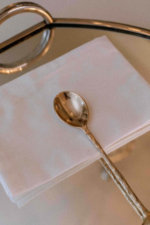 Load image into Gallery viewer, Brass Shell Motif Desert Spoon