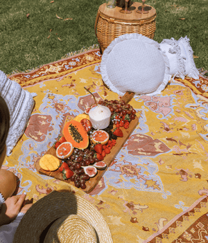 """Golden Hour""  Extra Large Picnic Rug"