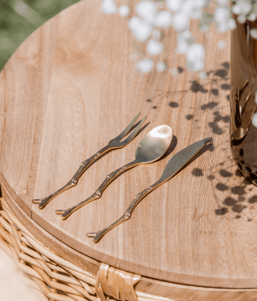 Petite Gold Twig Serving Cutlery Wilder The Label