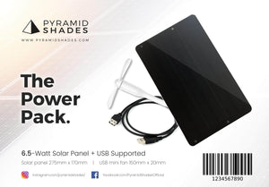 Solar Power Pack Pyramid Shades