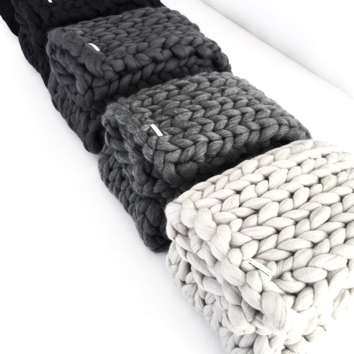 ON SALE - OVERSIZED KNITT WOOLLEN THROW usually $539.00 - N I C K E L  N  C O