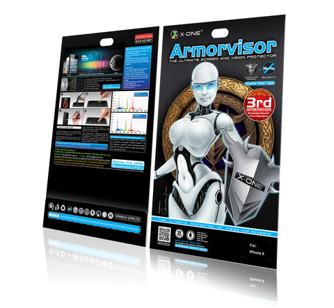 X.One® Armorvisor (Antishock + Anti Bluray) Screen Protector For Various Phone Models