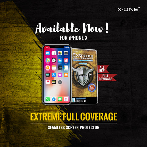 X.One® Extreme Shock Eliminator 2.5D Full Cover for iPhone X
