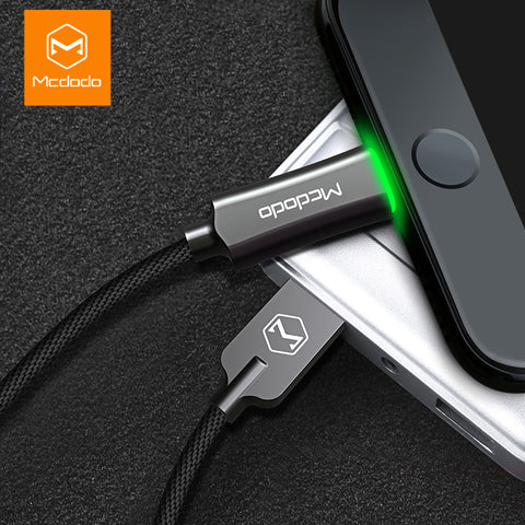 Ultra Tough Nylon LED Cable for Apple iPhone with Fast Charging