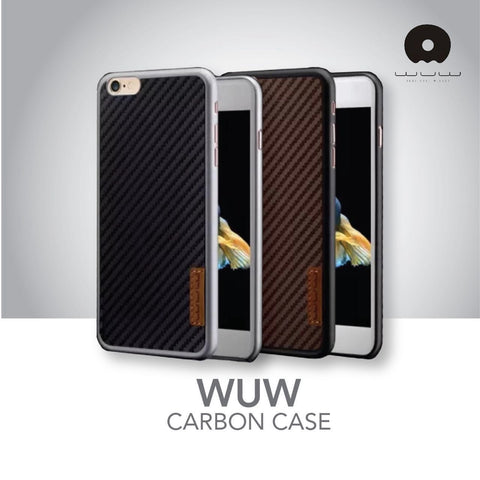 WUW Carbon Fiber Back Case for iPhone 6/6S & 6+/6S+