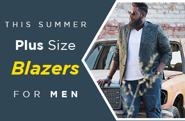 Stay Classy and Stylish with Plus Size Blazers for Men this summer!