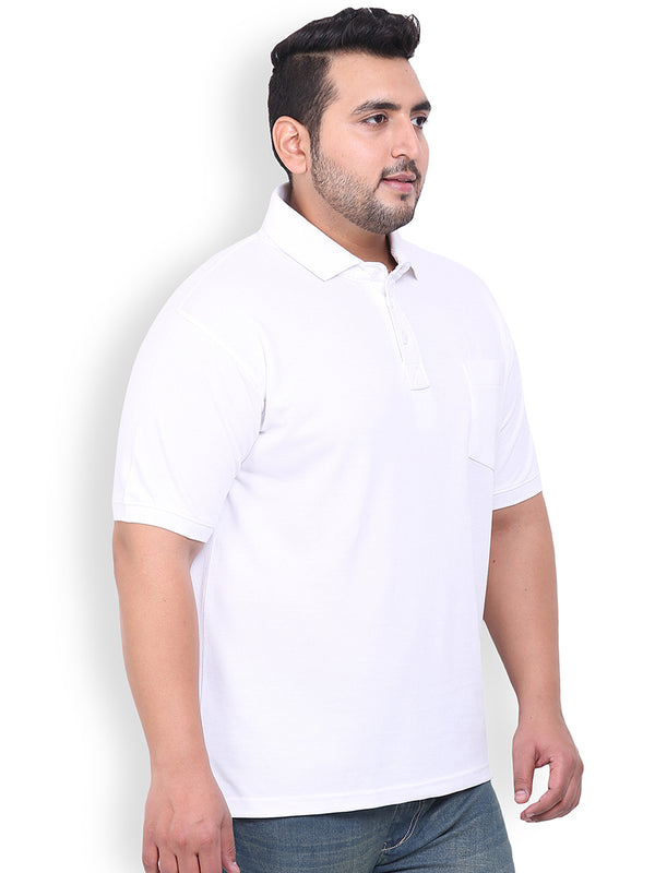 White Cotton T-Shirt- 3103C