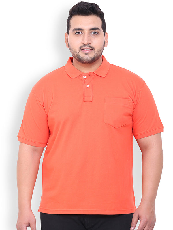 Orange Cotton T-Shirt- 3105A