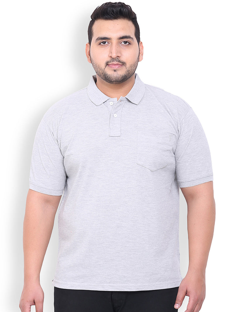 Grey Cotton T-Shirt- 3105C